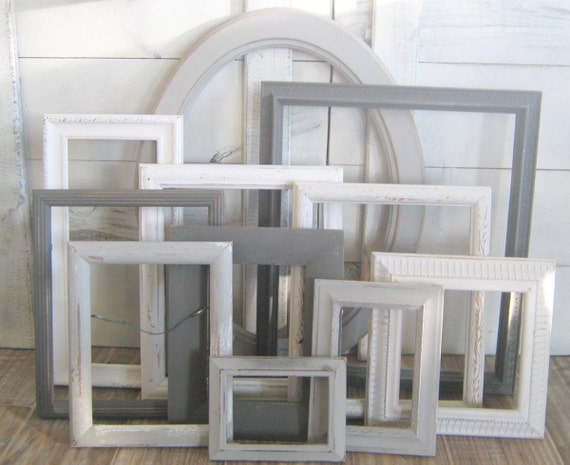 farmhouse picture frame wall decor ombre gray frame set gallery wall frames