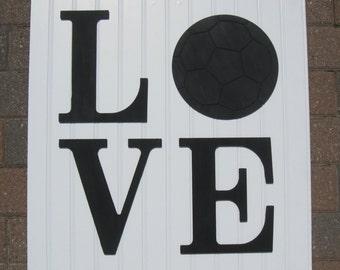 Love Soccer Sign