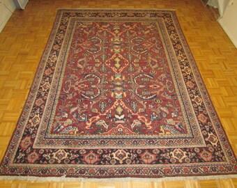 """7'3"""" x 9'9""""   Circa 1960 Semi Antique  Persian Mahal Rug #600"""