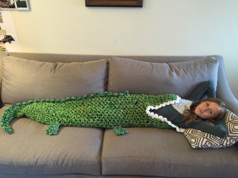 Free Crochet Pattern For Alligator Blanket : Crocheted Alligator Blanket by DCCreates on Etsy