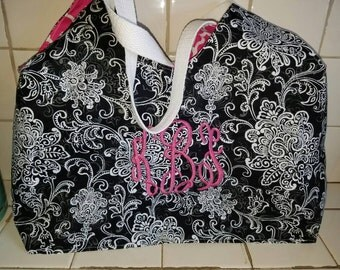 Personalized Monogrammed Hobo Purse.