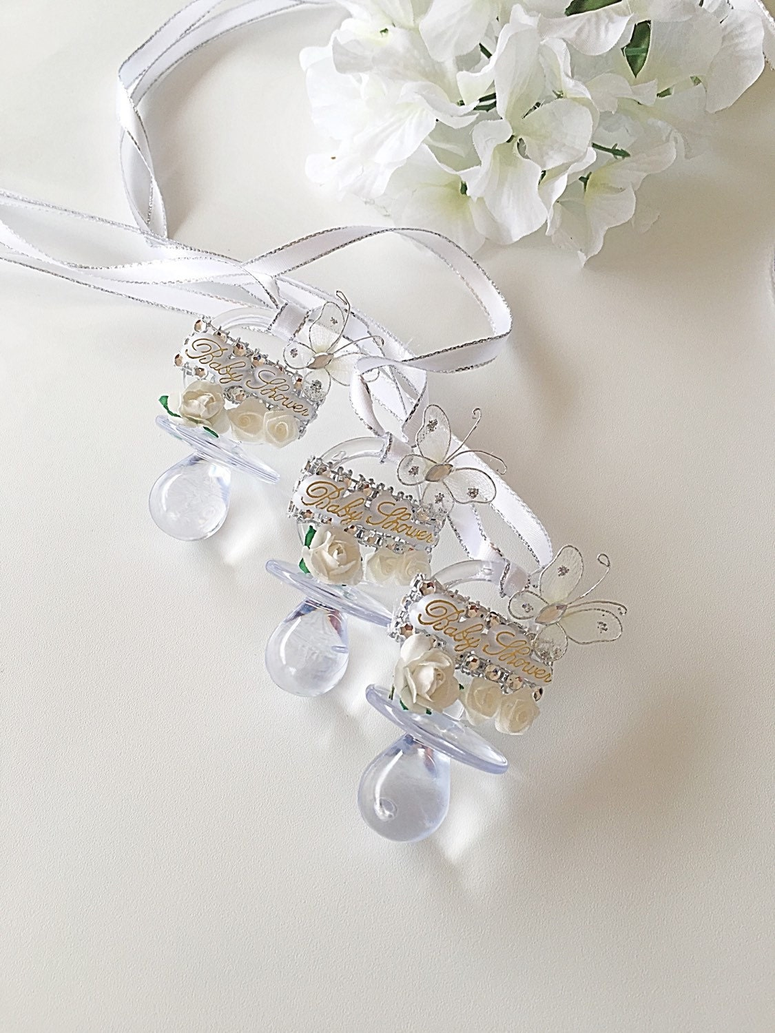 dozen baby shower pacifier necklaces by beautifyyou on etsy
