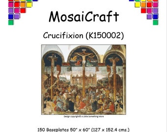 MosaiCraft Pixel Craft Mosaic Art Kit - 'Crucifixion' (Like Like Mini Mosaic and Paint by Numbers)