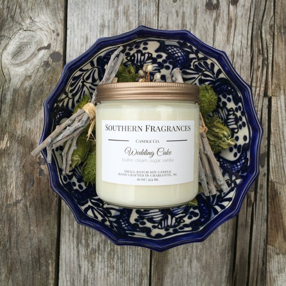 wedding cake scented candles wedding cake soy candle 16oz soy candle by southernfragrances 24032