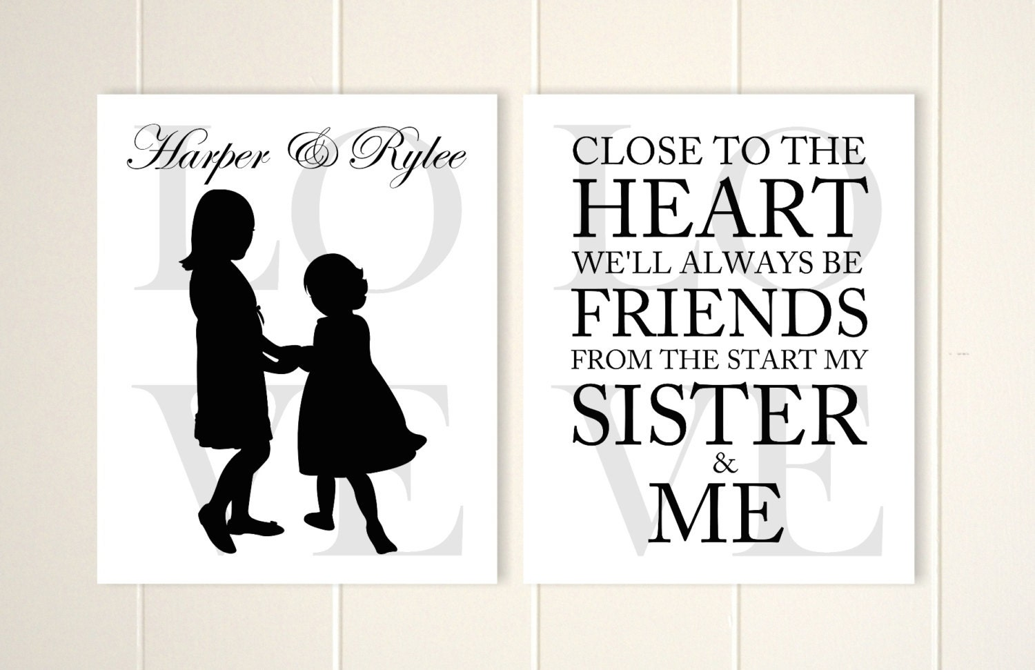 Wall Art Quotes For Sisters : Sisters wall art inspirational quote shared