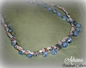 Seashell and Glass Double Stranded Necklace. Gifts for her. Beaded Necklace. Unique.