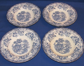 TONQUIN ROYAL STAFFORDSHIRE 8 inch bowls Set of 4 1930s