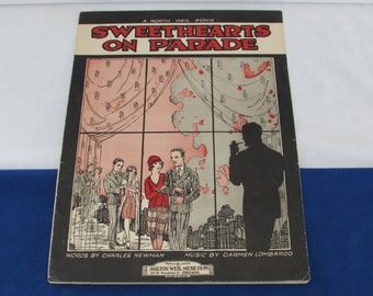 SWEETHEARTS ON PARADE 1928 Sheet Music