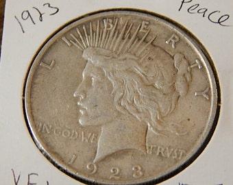 1923 Peace Dollar XF+