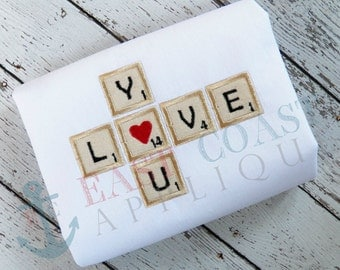 LOVE TILES machine embroidery design