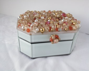 Gold and Coral Baubles Jewelry Box