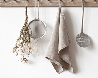 Natural Stone Washed Linen Tea Towel