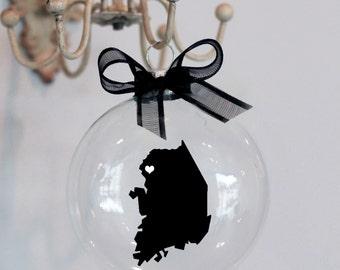 South Korea Christmas Ornament, Custom, Adoption, Deployment, Travel, Mission