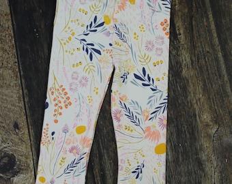 Whispy Wildflower Knit Baby/Toddler Girl Leggings