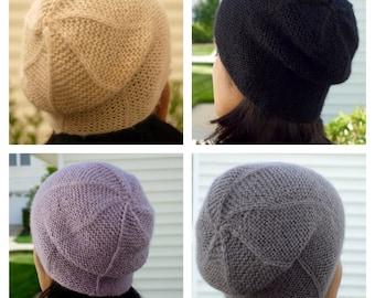 Pick 2 Colors - Alpaca Wool Beret - Alpaca Beret- Slouchy Beanie Hat - Womens Knit Hat - Alpaca Wool Beanie Hat - Winter Hats - Slouchy Hat