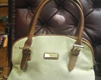 Mondani Fabric Leather Like 12x10x8