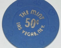 The Mint Las Vegas Nevada Vintage 50 Cent Chip Rare Casino Resort Gambling Vintage Collectible Souvenir