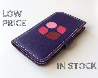 Phone Wallet Leather Galaxy S4 case Samsung Galaxy S4 Wallet Samsung Galaxy S4 Wallet Case Leather Phone Case Purple-ON SALE!