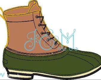 Duck Boot Applique Design - Bean Boot - Machine EMbroidery Design