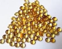 3MM CITRINE NATURAL round cabochon Golden shade Loop Clean nice golden citrine healing stone citrine brandy color citrine cabochon round
