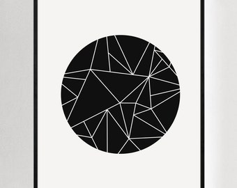 Minimalist Print, Modern Art, Geometric Art, Black and White Prints, Abstract Wall Art, Print Abstract, Modern Wall Art, Modern Minimalist