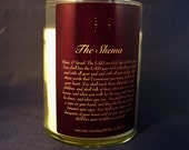 Hebrew Jewish Candle The Shema Prayer Cotton Comfort Scent Dark Purple Judaic Collectible Hear O Israel The L-rd our G-d