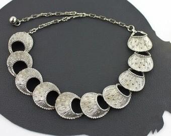 Silver Sea Urchin Link Necklace