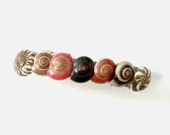 Seashell hair clips