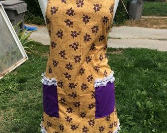 Purple Floral Print w/ Purple straps and pockets