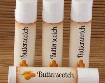 Butterscotch Flavored Lip Balm - Handmade All Natural Lip Balm