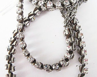 Vintage Flapper Style Rhinestone Necklace