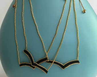 Gold & Black > Beaded Necklace >Boho > Festive > Fashion>Gift > Idea > Summer> Winter > Trends>Limited Stock