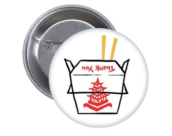 Takeout Container Button. Chinese Food. I love food. Foodie. Takeout. Take Out.