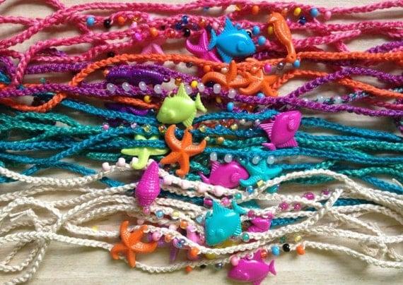mermaid friendship bracelet anklet summer pool birthday