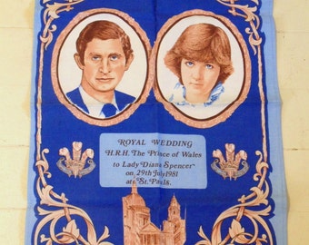 Vintage Charles and Diana Royal Wedding Tea Towel
