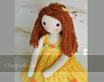 Finished Doll, 16 Inches tall Crochet doll.