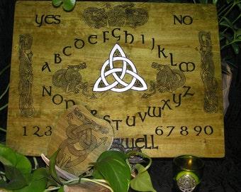 Celtic Dragon Spirit Board~Irish Ouija, Triquetra
