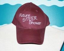 Livestock steer shower - youth baseball cap - livestock kid show steer hat -embroidered baseball cap -  future steer shower