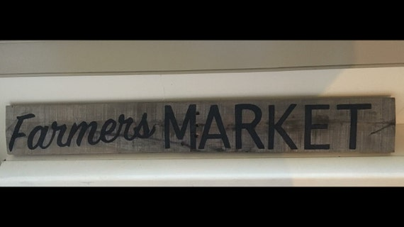 Rustic Style Farmers Market Sign