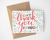 Thank You Cards, Thank You Cards Baby Shower, Thank you Cards For Bridesmaid, Teacher Appreciation Card, Employee Appreciation Card