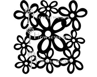 "Digital Cut File, ""Wonky Flowers"", 8x8"",SVG Format,Personal Cutting Machine,Die Cut File,Graphic Design,Immediate Download,SVG Cut File,"