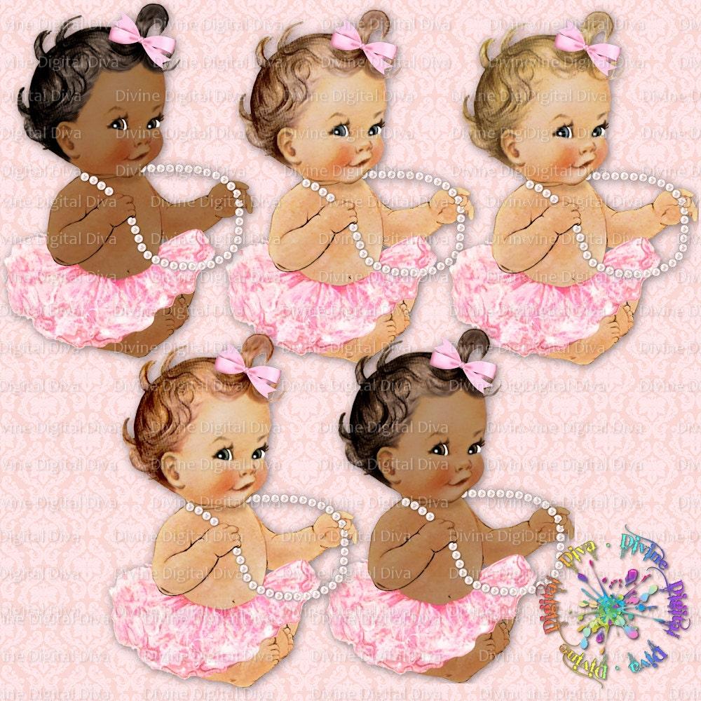 Ballerina Baby Pearls Light Pink Tutu by DivineDigitalDivaPink Tutu Baby Clipart