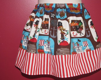 Girls PIRATE Skirt Size 3T Ready to Ship!! (other sizes available)