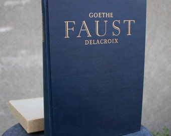Vintage FAUST by Goethe, Delacroix Heritage Pres Hard Cover 1959 with Slip Case
