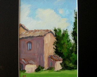 original painting, Italy, 5x7, Sessa