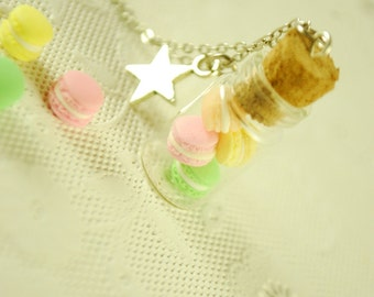 macaron jar necklace - food jewelry