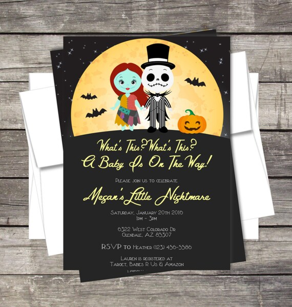 Nightmare before christmas invitation baby shower birthday party il570xn filmwisefo
