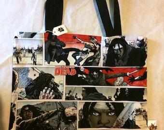 Walking Dead Zombie Hunter Tote Bag, Trick or Treat Halloween Bag, Reusable Shopping Bag, Laptop Sleeve