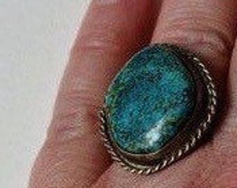 Southwestern Native American Turquoise Ring