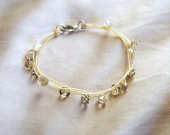 Crystal and Hemp Bracelet